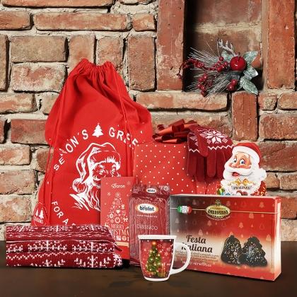 Cosuri cadou Craciun  Cos cadou Papa Noel