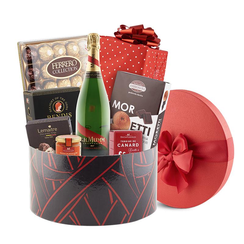 Cosuri cadou cu Panettone Cutie cadou Cadeau Rouge